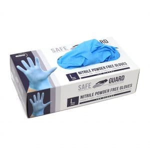 Safeguard Nitrile Disposable 100 Pieces Gloves