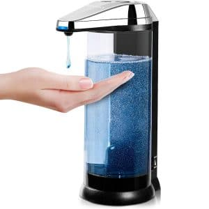 Secura 17oz 500ml Premium Touchless Battery Operated Electric Automatic Dispenser w Adjustable Dispensing Volume Control Dial