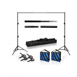Lusana 10 FT Wide Backdrop Stand with Spring Clamp