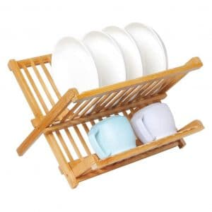 Artmeer Collapsible Bamboo Dish Rack