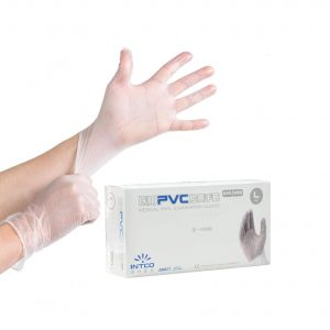 JingXiGuoJi Clear Vinyl Disposable PVC Gloves 100 Pack