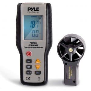 ZYL-YL Anemometer Temperature Measure Digital Thermometer Handheld Measuring Tool Checker Measuring Air Velocity Air Flow Temperature