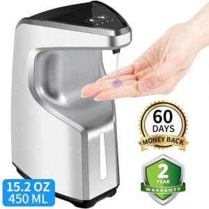 Touchless Soap Dispenser, 15.2 oz :450ml Touch-Free Battery Operated Automatic Soap Dispenser, w:Adjustable Soap Dispensing Volume Control Button