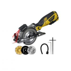 Gunour Mini Circular 4.5 Inches Handheld Cordless Saw