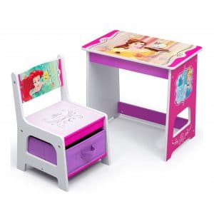 Disney Princess Kids Wood Desk and Chair Set