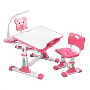 Kids Study Table Set,Children Desk and Chairs Set