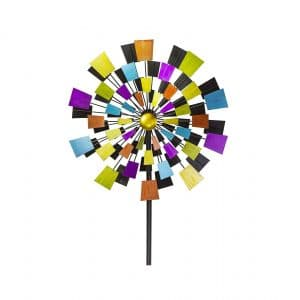 VP Home Kinetic Kaleidoscope 94 Inches Metal Stake Wind Spinner