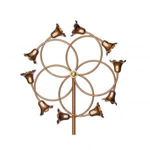 Stanwood Wind Sculpture Dual Kinetic Copper Spinner