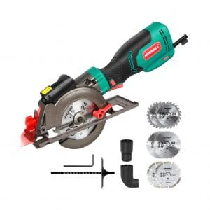 HYCHIKA 6.2A Mini Circular Saw with a Laser Guide