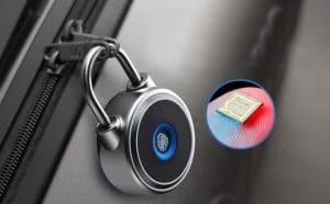 image feature fingerprint padlock