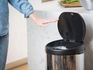 image feature motion sensor trash cans