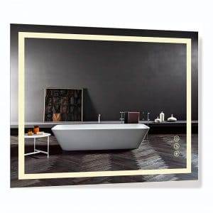 B & C 30 X 36 Inches Super Slim Lighted Mirror for Bathroom