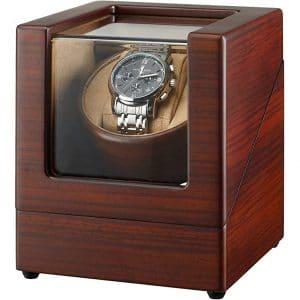CHIYODA Watch Winder for Single Automatic Watch Wooden Box Mabuchi Motor