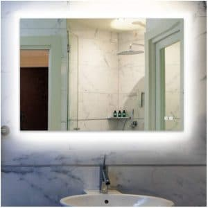 ROGSFN Plug-In Rectangle Backlit Fogless Lighted Mirror for Bathroom