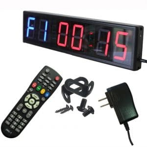 Ledgital Interval Timer Large Crossfit Clock for Home Gym | Countdown:UP Stopwatch Timer for Gym w:Remote Control