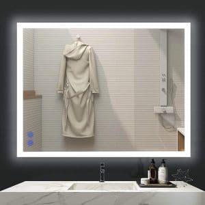 VENETIO 36 X 28 Inches LED Lighted Mirror for Bathroom