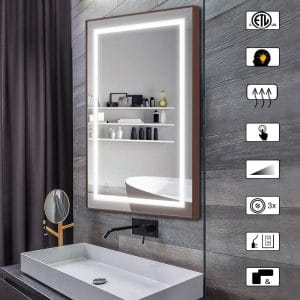 CITYMODA 28 X 20 Inches Bathroom Lighted Mirror