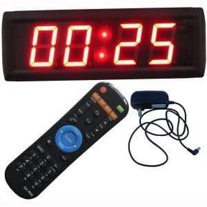"Ledgital 2.3"" Countdown Timer with Real Time Clock LED Digital Wall Clock Brightness Adjustment"