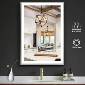 OOWOLF LED Bathroom 26 x 18 Vanity Lighted Mirror