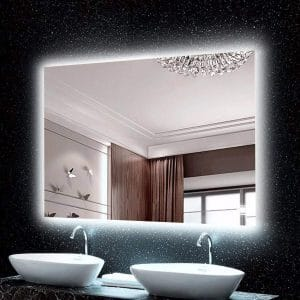H & A Hans and Alice Backlit Lighted Mirror for Bathroom