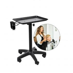 Semmes Adjustable Height Rolling Mobile Instrument Aluminum Tray trolley.