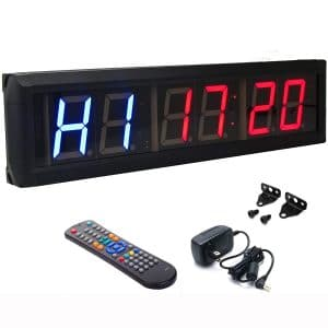 """BTBSIGN 2.3"""" Programmable LED Interval Timer Countdown Clock Stopwatch"""