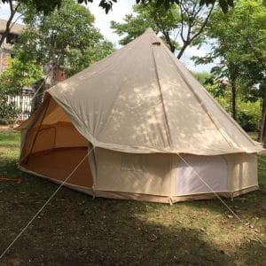 None 100% Cotton Canvas Waterproof Bell Camping Tent