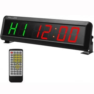 """Fitness Training Gym Timer, Interval Timer Clock with Remote Control Indoor for Crossfit, Tabata, EMOM, MMA (2.3"""" Digits height)"""