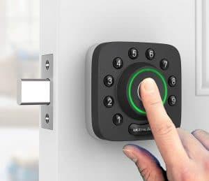 Door Lock with Fingerprint Scanner