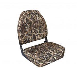 Wise Camo High Back Boat Seat