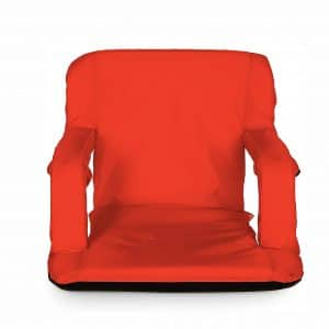 Camco Portable Reclining Stadium Seat Water-Resistant with Zippered Pocket