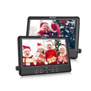 WONNIE 10.5 Inches Dual Portable DVD Player