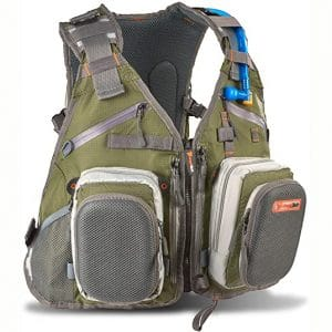 Anglatech Fly Fishing Backpack with Water Bladder Adjustable for Men and Women life jackets for kayak fishing