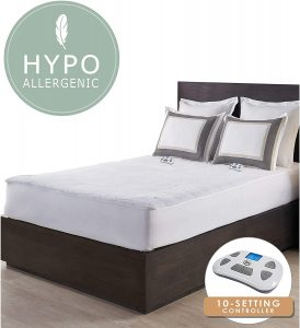 Serta | Luxurious Sherpa Plush Heated Electric Mattress Pad with Hypoallergenic Fill Twin