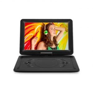 DR. J Professional Portable DVD Player with 14.1 Inches HD Screen