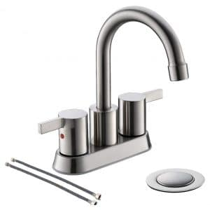 Phiestina 3-Hole Low-Arch 2 Handle Widespread Bathroom Faucet