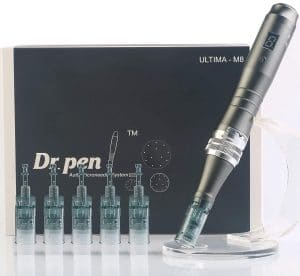 Dr. Pen Ultima M8 Professional Microneedling Pen - Electric Derma Auto Pen - Best Skin Care Tool Kit for Face and Body - 16 pins x2 + 36 pins x3 Cartridges