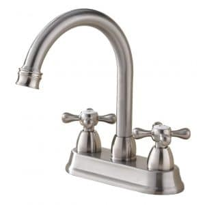 SHACO Commercial Brushed Nickel Centerset Bathroom Faucet