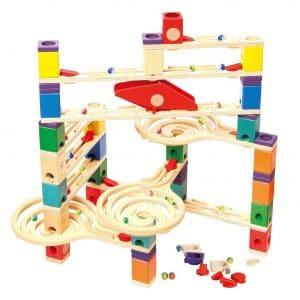 Hape Smart Play Wooden Quadrilla Marble Run Construction