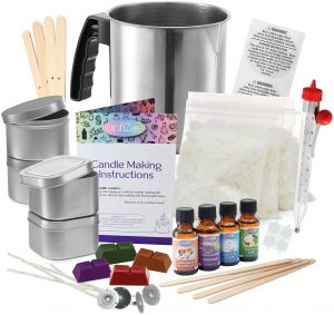 Complete DIY Candle Making Kit Supplies by CraftZee – Create Large Scented Soy Candles – Full Beginners Set Including 2 LB Wax, Rich Scents