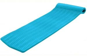 """Texas Recreation Serenity 1.5"""" Thick Swimming Pool Foam Pool Floating Mattress, Teal"""