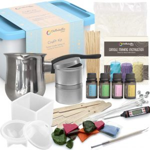 CandleScience Soy Candle Making Starter Kit No Experience Necessary DIY Kit Contains Soy Wax Pot Wicks and Thermometer Up to 12 candles