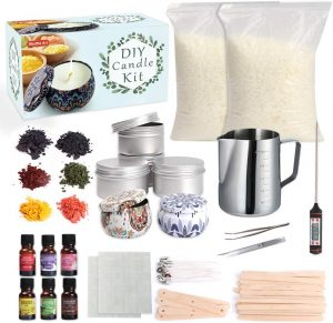 Candle Making Kit Supplies, Shuttle Art Candle Making Kit for Adult, Complete DIY Beginners Set Including 3 LB Soy Wax, 6 Fragrance Oil, 6 Colors Candle Dye
