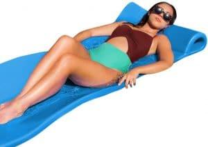 Pool Mate Large Foam Mattress Swimming Pool Float, Marina Blue