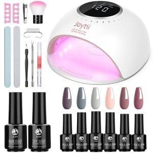 Joytii Gel Nail Polish Start Kit 82W UV Nail Lamp 10 Pieces Nail Art Set