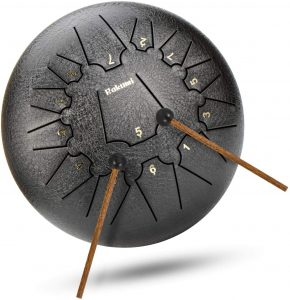 12 Inch 13 Note Titanium Steel Tongue Drum Percussion Instrument Hand Pan Drum with Drum Mallets Carry Bag