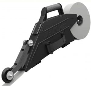 Delko Zunder Drywall Banjo Taping Tool with Reversible Inside Corner Roller Wheel - Dual Right:Left Hand Operation