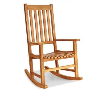 Giantex Natural Wooden Frame Rocking Chair