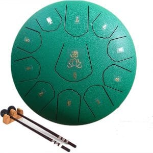 Ailla Steel Tongue Drum, 11 Notes 12 Inch C Tone Hand Drum, Percussion Instrument Tankdrum with Mallets Bag Set for Meditation Yoga Sound Healing