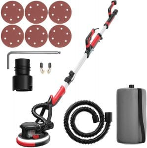 Goplus 750W Drywall Sander with Automatic Vacuum System, Electric Drywall Sander with LED Light and Collection Bag, Variable Speed 900-1800 RPM